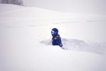 deep snow winter action