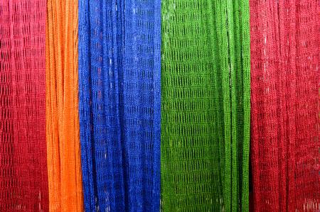 Colourful Hammock interlace from nylon rope