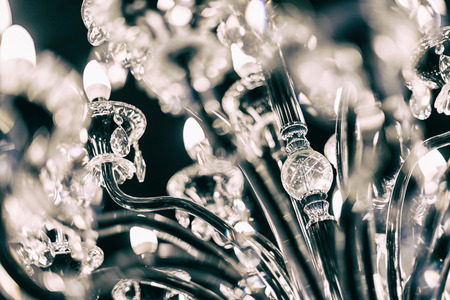 Chrystal chandelier close up, selective focus. Stock fotó - 47294428