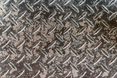 aluminium: Grungy aluminium dark list with rhombus shapes