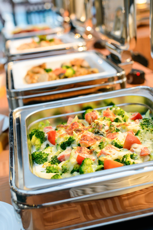 catering food: catering food in restaurant, luxury hotel. Stock Photo