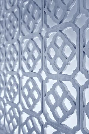 Muster der Blume geschnitzt auf Holz, Holz Schablone. Standard-Bild - 62465415