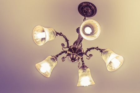 Ceiling lamp for interior decoration, old style celling lamp Stock Photo