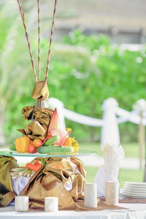 Strand Strand Hochzeit Dekorationen und Arrangements Standard-Bild - 62466065