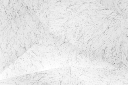 Interior triangular white marble connected diagonally. Modern design marble pattern background.