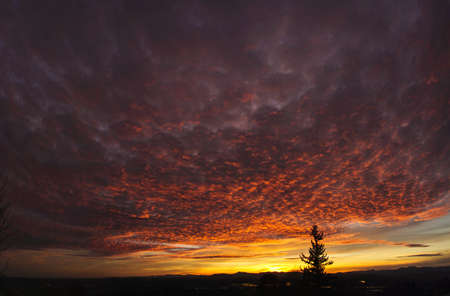 magnificence: January sunset over the Oregon Coast Range and Ankeny National Wildlife Refuge