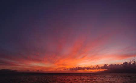 nightfall: May Sunset From Maui
