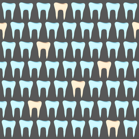 Healthy teeth. Patients teeth. Seamless pattern on dentistry. Vector illustrations.