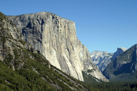 El Capitan is one of the magnificent mountains in Yosemite. photo