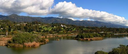 Panorama of the Santa Baraba Mountians