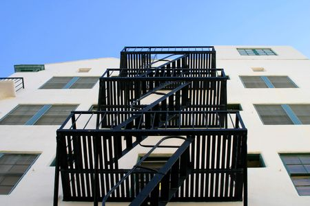 Fire escape stairs at a house in Ventura California photo