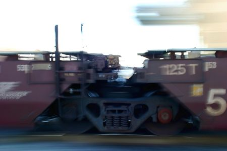 panning shot: shot of a moving train to capture the motion with panning