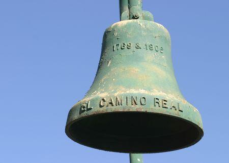 camino: El Camino Real Bell along the El Camino Real in California Stock Photo