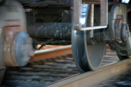 Photo of a moving train with part of the photo blurred to show the movement Stock Photo - 2512220