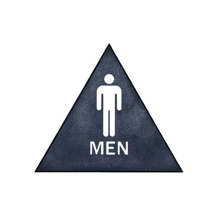 A blue, white, and gray restroom sign for men Stock Photo - 2512235