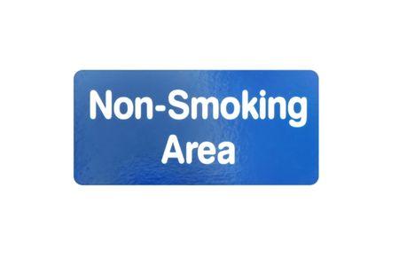 non smoking: A blue and white sign for Non Smoking Area Stock Photo