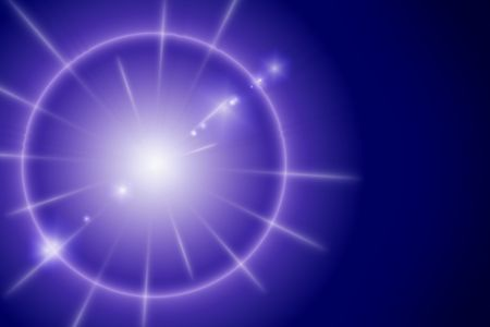 Star with flare on a dark blue background Stock Photo - 3076393