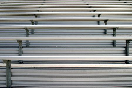 Bleachers in a statium or school for the fans.