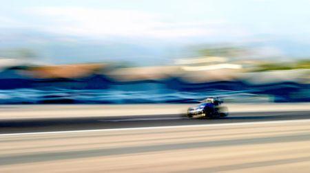A speed  racing down the air stripe in Santa Paula. Stock Photo - 3621376
