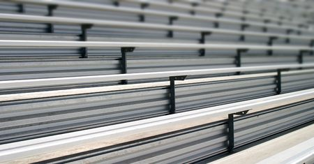 Bleachers in a stadium or school for the fans photo