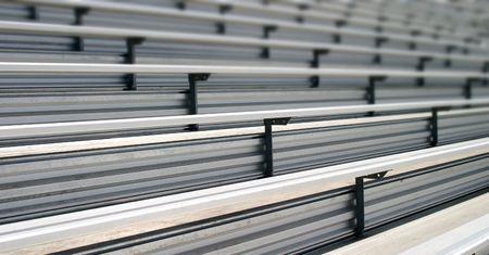 bleachers: Bleachers in a stadium or school for the fans