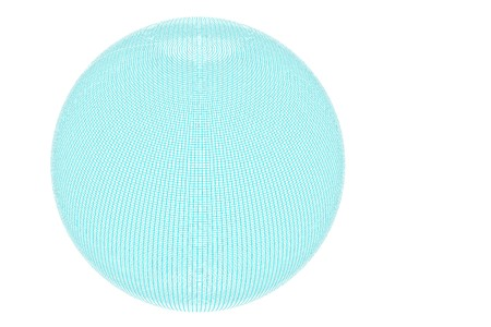 globe grid: Globe with a full wire grid on white background. Stock Photo