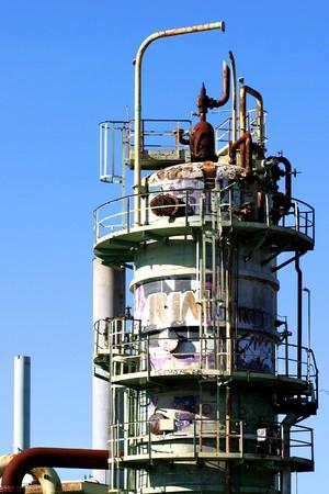 Old oil refinery in Venture near Ojai