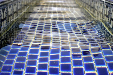 Close up of water in a fountain. Stock Photo
