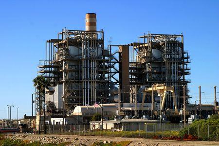 Natural gas power plant near Ventura California.