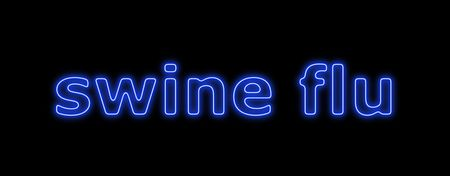 Neon sign about the schwein flu on black background Stock Photo - 4787205