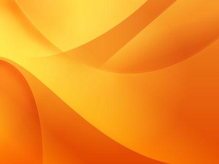 Orange background illustration of flows for wallpaper.