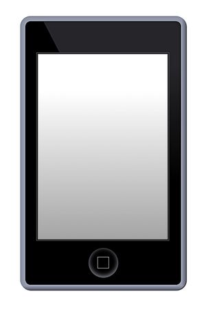 Illustration of a MP3 Phone Player on white background. Editorial