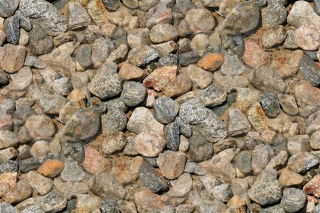 Seamless background or wallpeper with gravel stones Stock Photo