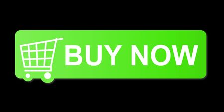 Buy now button with a shopping cart on black background. Stock Photo - 5122271