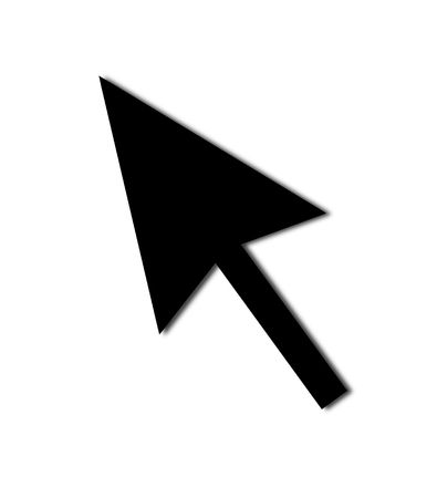 Cursor Arrow for the use with mouse or other pointer. Stock Photo