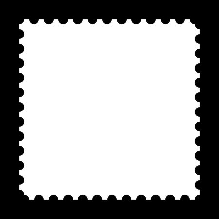 Square stamp with copy space on black background