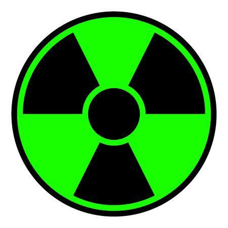 Round radiation warning sign on white background Stock Photo - 5333566