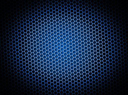 Blue honeycomb background 3d illustration or backdrop with light effect