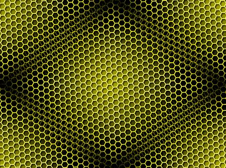 Seamless yellow honeycomb on brown background with light effect. Stock Photo - 5557800