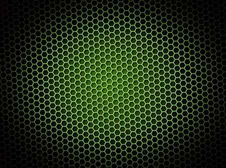 grid: Green honeycomb background 3d illustration or backdrop with light effect Stock Photo
