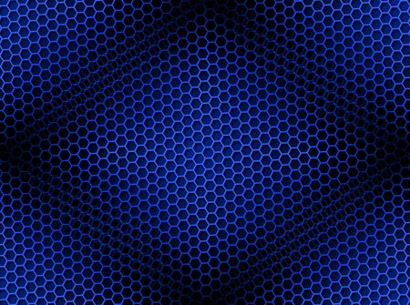 Seamless blue honeycomb on brown background with light effect. photo
