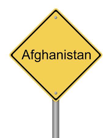 blank yellow war warning sign on white background photo