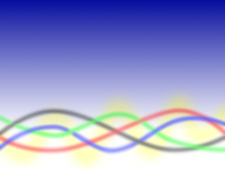 blue green background: Blue background with red green balck blue yellow lines