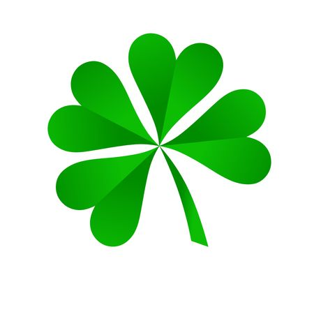 green four leaf clover on white background Stock Photo - 6268947