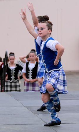 strathspey: EDITORIAL ONLY  VENTURA, CA, USA - October 11, 2009 - Girls performing at a dance competition at the Ventura Seaside Highland Games October 11, 2009 in Ventura, CA Where: Ventura, CA, USA