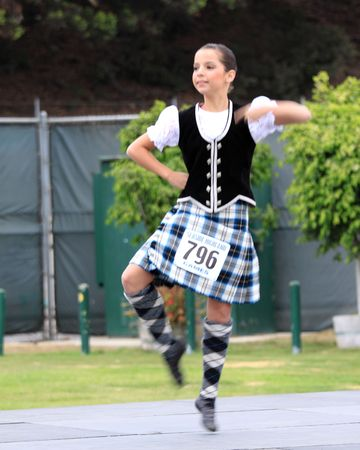 EDITORIAL ONLY  VENTURA, CA, USA - October 11, 2009 - Girls performing at a dance competition at the Ventura Seaside Highland Games October 11, 2009 in Ventura, CA Where: Ventura, CA, USA