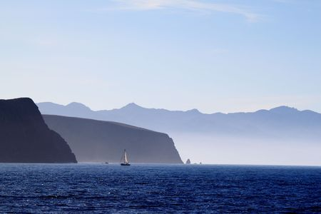 Santa Cruz Island of the cost from Ventura California photo