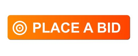 Place Bid button with a ring or target simbol on white background. photo