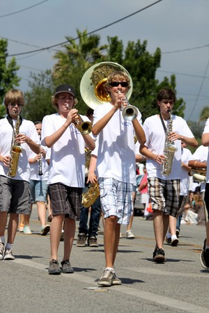 Ojai, CA - JULY 3 : Annual 4th of July parade in Ojai one day early this year July 3, 2010 in Ojai, CA.  Editorial