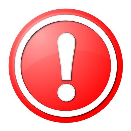 point d exclamation: bouton rond avec anneau blanc pour la conception de sites web et la présentation